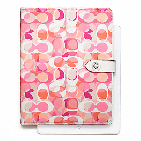 COACH f66477 DAISY KALEIDOSCOPE PRINT TURNLOCK IPAD CASE