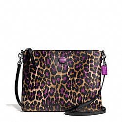 SIGNATURE STRIPE OCELOT PRINT TABLET CROSSBODY COACH F66496
