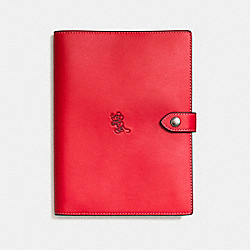 MICKEY BOOK COVER - f66522 - DARK GUNMETAL/1941 RED