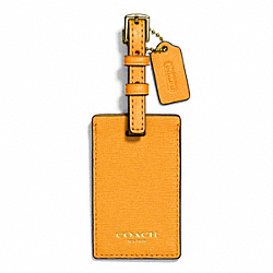 COACH SAFFIANO  LEATHER LUGGAGE TAG - ONE COLOR - F66538