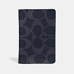 CARD WALLET IN SIGNATURE CANVAS - DENIM/BLACK ANTIQUE NICKEL - COACH F66549