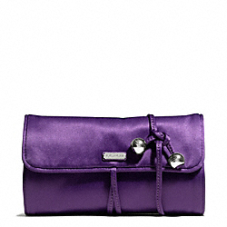 COACH OCCASION SATIN JEWELRY ROLL - SILVER/PURPLE - F66561