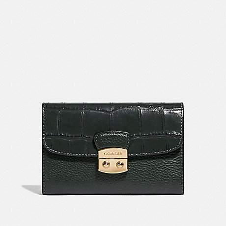 COACH MEDIUM ENVELOPE WALLET - IVY/IMITATION GOLD - F66629