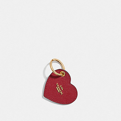 COACH HEART KEYFOB - TRUE RED/GOLD - F66645