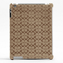 SIGNATURE MOLDED IPAD CASE - f66676 - KHAKI/MAHOGANY