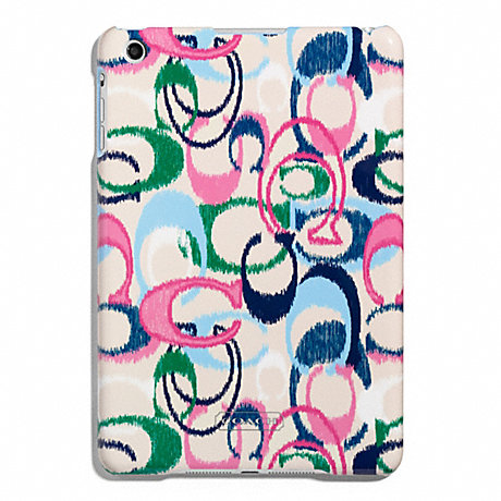 COACH SIGNATURE STRIPE IKAT PRINT MOLDED MINI IPAD CASE -  - f66700