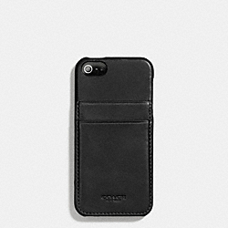 BLEECKER LEATHER IPHONE 5 MOLDED CASE WALLET - f66720 -  BLACK