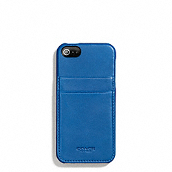COACH BLEECKER LEATHER IPHONE 5 MOLDED CASE WALLET - IMPERIAL BLUE - F66720