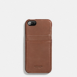 BLEECKER LEATHER IPHONE 5 MOLDED CASE WALLET - f66720 -  FAWN