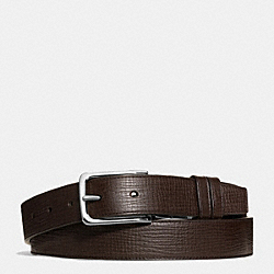 COACH DRESS WESTON BOX GRAIN LEATHER BELT - MAHOGANY/MAHOGANY - F66724