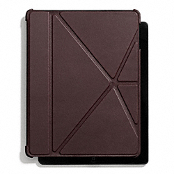 COACH BLEECKER LEATHER IPAD 4 CASE - CORDOVAN - F66725