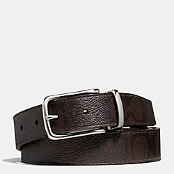 COACH DRESS WESTON SIGNATURE C BELT - MAHOGANY/BROWN - F66733