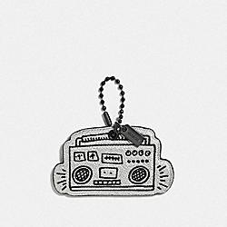 KEITH HARING BOOMBOX HANGTAG - GUNMETAL/BLACK - COACH F66748