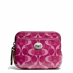 COACH PEYTON DREAM C DOUBLE ZIP COIN WALLET - ONE COLOR - F66776