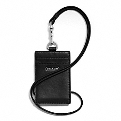 COACH CAMPBELL LEATHER LANYARD ID - ONE COLOR - F66780