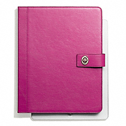 CAMPBELL LEATHER TURNLOCK IPAD CASE COACH F66788