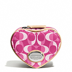 PEYTON DREAM C HEART JEWELRY POUCH COACH F66798