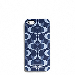 COACH PEYTON DREAM C IPHONE 5 CASE - SILVER/DENIM/TAN - F66805