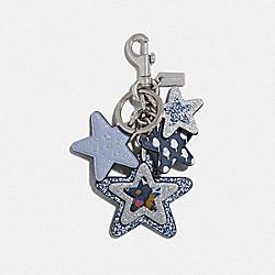 STAR MULTIMIX BAG CHARM - MIDNIGHT NAVY/SILVER - COACH F66905