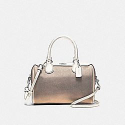 MINI BENNETT SATCHEL IN COLORBLOCK - CHALK MULTI/SILVER - COACH F66909