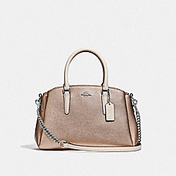 MINI SAGE CARRYALL IN COLORBLOCK - CHALK MULTI/SILVER - COACH F66911