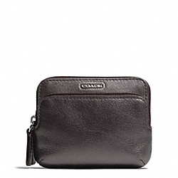 CAMPBELL LEATHER DOUBLE ZIP COIN WALLET COACH F66938