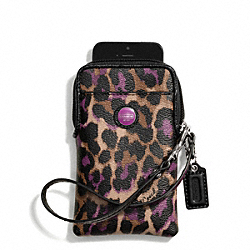 COACH SIGNATURE STRIPE OCELOT PRINT UNIVERSAL PHONE CASE - ONE COLOR - F66947