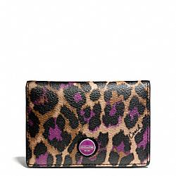 COACH SIGNATURE STRIPE OCELOT PRINT BUSINESS CARD CASE - ONE COLOR - F66949