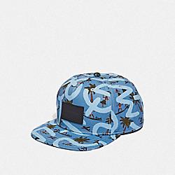 KEITH HARING FLAT BRIM HAT - BLUE SURFER - COACH F66988