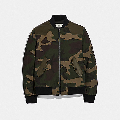 COACH CAMO MA-1 JACKET - GREEN CAMO - F66998