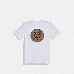 KEITH HARING T-SHIRT - WHITE - COACH F67011