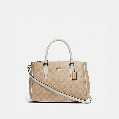 COACH SURREY CARRYALL IN SIGNATURE CANVAS - LIGHT KHAKI/CHALK/IMITATION GOLD - F67026