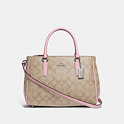 SURREY CARRYALL IN SIGNATURE CANVAS - LIGHT KHAKI/CARNATION/SILVER - COACH F67026