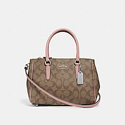 MINI SURREY CARRYALL IN SIGNATURE CANVAS - KHAKI/PETAL/SILVER - COACH F67027