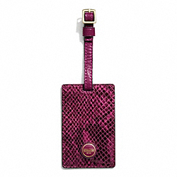 COACH SIGNATURE STRIPE EMBOSSED SNAKE LUGGAGE TAG - ONE COLOR - F67039