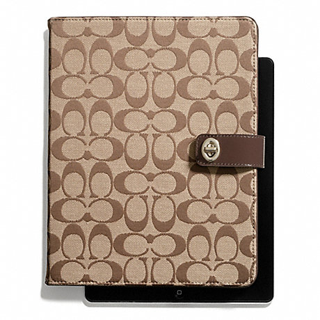 COACH PARK SIGNATURE TURNLOCK IPAD CASE -  - f67056