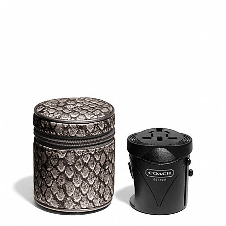 COACH TAYLOR SNAKE PRINT TRAVEL ADAPTOR -  - f67059