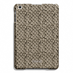 COACH TAYLOR SNAKE PRINT MOLDED MINI IPAD CASE - SILVER/GUNMETAL - F67060