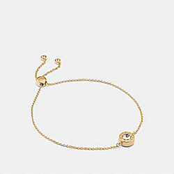 OPEN CIRCLE SLIDER BRACELET - GOLD - COACH F67072
