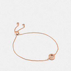 OPEN CIRCLE SLIDER BRACELET - ROSEGOLD - COACH F67072