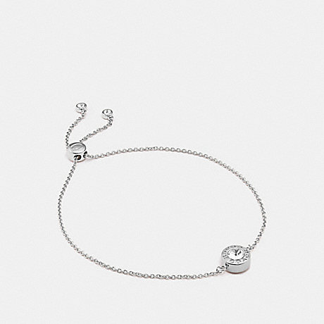 COACH OPEN CIRCLE SLIDER BRACELET - SILVER - F67072