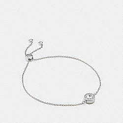 OPEN CIRCLE SLIDER BRACELET - SILVER - COACH F67072