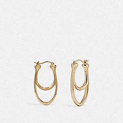 SIGNATURE HOOP EARRINGS - GOLD - COACH F67084