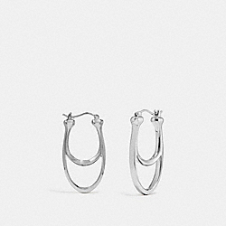 SIGNATURE HOOP EARRINGS - SILVER - COACH F67084