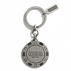COACH CASINO CHIP KEY RING - ONE COLOR - F67100