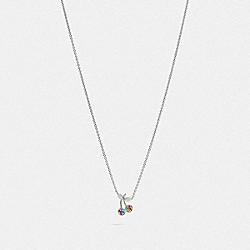 CHERRY NECKLACE - MULTI/SILVER - COACH F67101