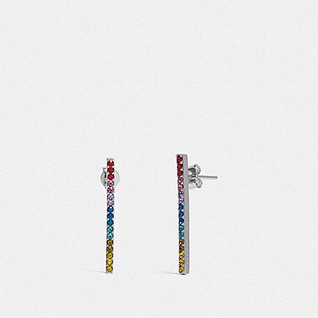 COACH BAR EARRINGS - MULTI/SILVER - F67103