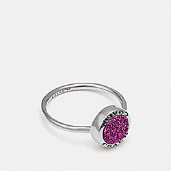 OPEN CIRCLE RING - PURPLE/SILVER - COACH F67126