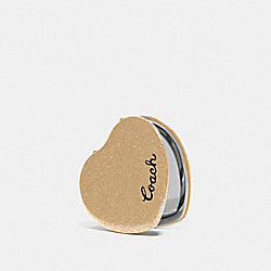 GLITTER HEART MIRROR - GOLD - COACH F67136