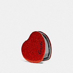 GLITTER HEART MIRROR - RED - COACH F67136